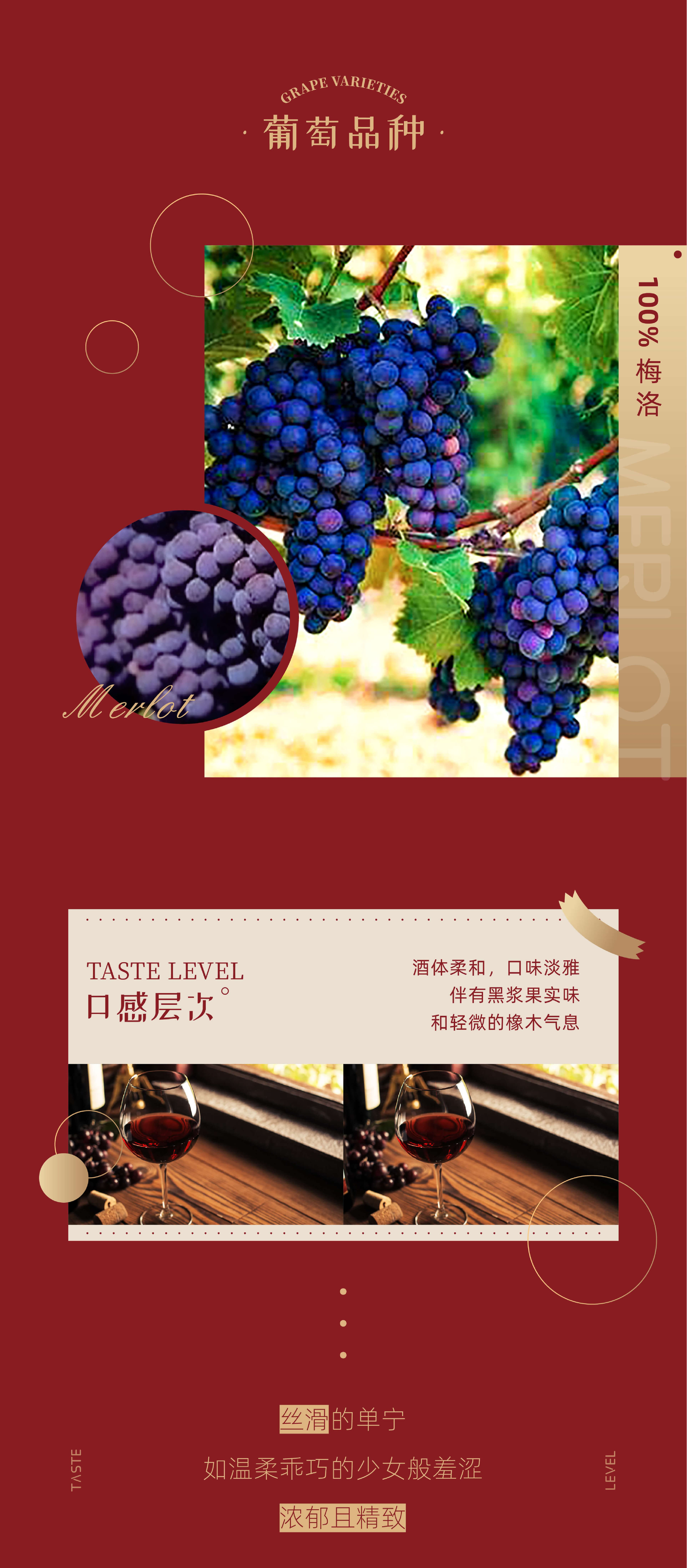 窖藏梅洛红葡萄酒